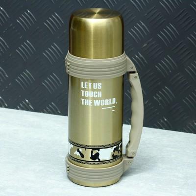 """Термос """"Турист"""" 1.1 л с пластиковой ручкой, 10×28.5 см,  микс"""