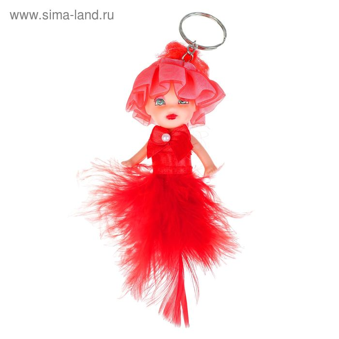 """Игрушка куколка-брелок """"Куколка"""" перышки, цвета МИКС"""
