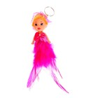 """Toy doll keychain """"Doll-little angel"""" feathers, MIX colors"""