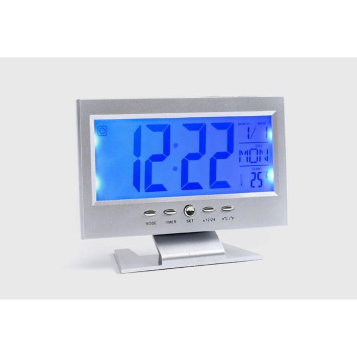 """Часы-будильник электронные """"Берсон"""", с термометром, 14.5х11 см"""