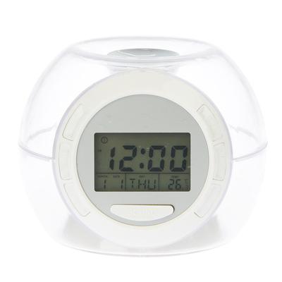 Часы-будильник электронные, 7 подсветок, с термометром, дата, 7 звуков, 10х10 см