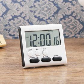 Часы электронные с таймером, настольные, 8х7.5 см, микс