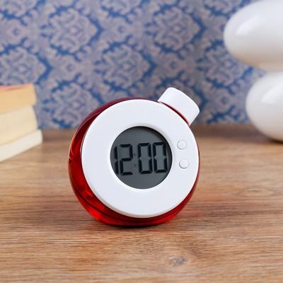 """Часы электронные """"Пузырьки"""", настольные, работают на воде, 9х8.5 см, микс"""