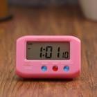 """Часы-будильник электронные """"Пейджер"""", прямоугольные, 6.5х4 см, микс"""