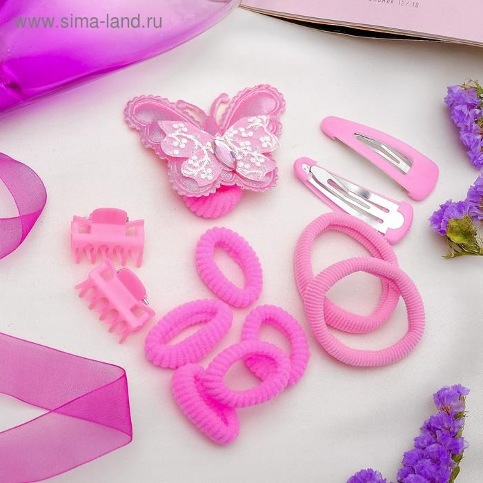 """Набор для волос """"Настроение"""" (8 резинок, 2 невидимки, 2 краба) бабочка"""