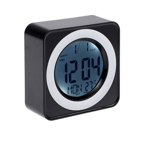 Часы-будильник, температура, подсветка срабатывает от хлопка