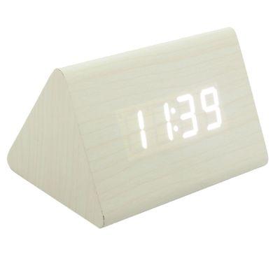 Часы-будильник LuazON LB-22, с термометром, 4*ААА, белое дерево