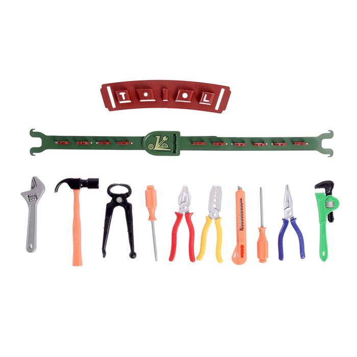 Набор инструментов «Мастер», с поясом, 12 элементов