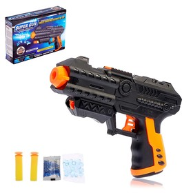 Пистолет «Бегущий воин», стреляет гелевыми шариками и мягкими пулями