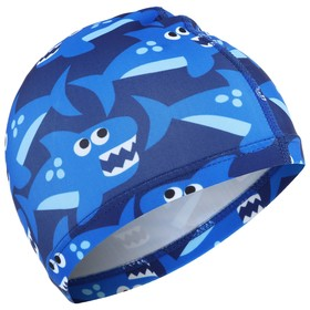 Шапочка для плавания «Акулы» OL-011, детская, от 3-6 лет, текстиль