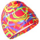 Шапочка для плавания, взрослая OL-027, текстиль, цвет розовый