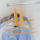Вешалка-плечики для одежды 4-х уровневая, размер 44-46, светлое дерево сорт В - фото 4642678