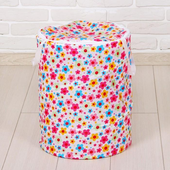Корзина для игрушек «Цветочки»