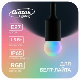 Лампа светодиодная декоративная, G45, 6 led SMD, для белт-лайта, свет RGB