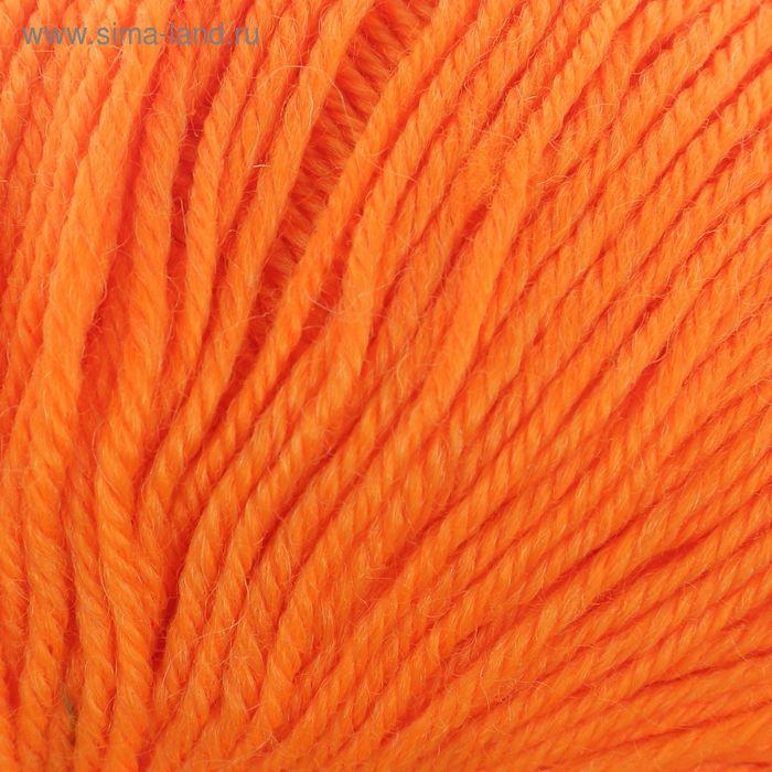 """Пряжа """"Adelia Claire"""" 50% шерсть, 50% акрил 138м/50гр (160 яр.оранжевый)"""