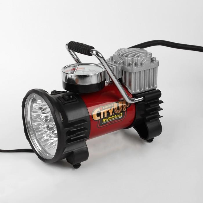 Компрессор автомобильный CityUP BUFFALO, АС-593, 180 Вт, 10 атм, 35 л/мин