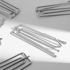 Крючки для штор, 7 × 2,5 см, 10 шт, цвет серебряный