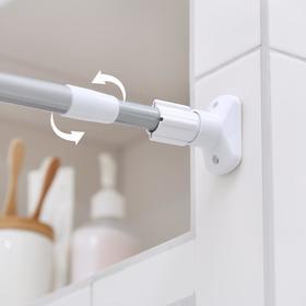 Карниз для ванной комнаты, телескопический 140-260 см, усиленный, цвет серый