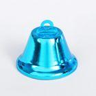 Колокольчик, размер 1 шт. 3,8 см, цвет голубой