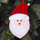 """Новогодняя ёлочная игрушка, Набор для создания подвески из фетра """"Дедушка мороз"""""""