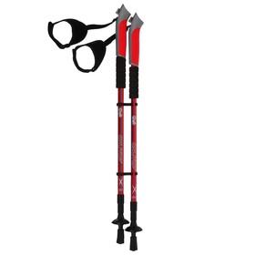Палки для скандинавской ходьбы, телескопическая, 3 секции, до 135 см (пара 2 шт), цвета МИКС