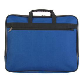 Папка с ручками текстиль А4, 30 мм, 360 х 260 мм, «Офис», 1Ш41, с карманом «Рант тесьма», синий