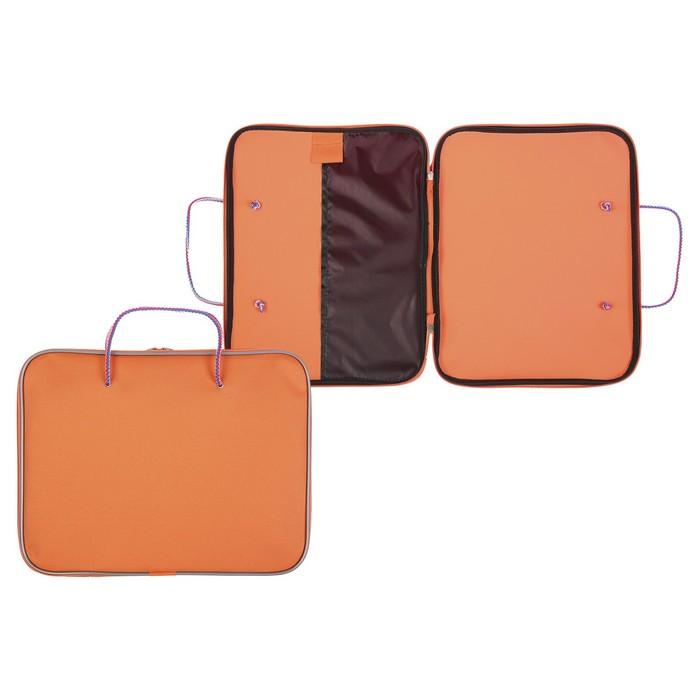 Папка с ручками текстиль А4 30мм 300*210 Канцбург 1Ш42 1426560 Офис Люкс оранжевый