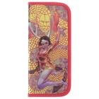 Пенал 1 секция 90х205 ламинированный картон металлизированный, объёмный рисунок, «Девушка с драконом»