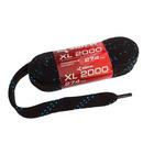 Шнурки хоккейные без пропитки, 274, цвет чёрный/синий