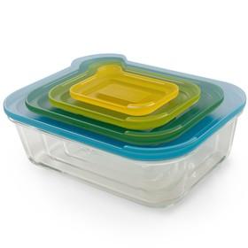 Набор из 4 контейнеров Nest стеклянный, 130 мл, 550 мл, 1,3 л, 2,5 л