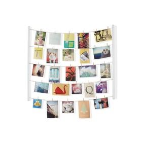 Панно с зажимами для 40 фотографий Hangit, белое