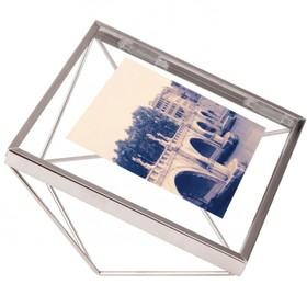 Фоторамка Prisma, 10 х 10, хром