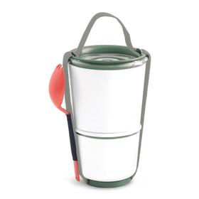 Ланч-бокс Lunch Pot оливковый, 300 мл, 550 мл