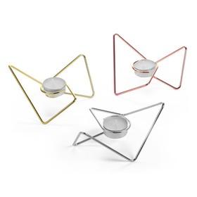 Набор из 3-х подсвечников Loop Maison хром-медь-золото