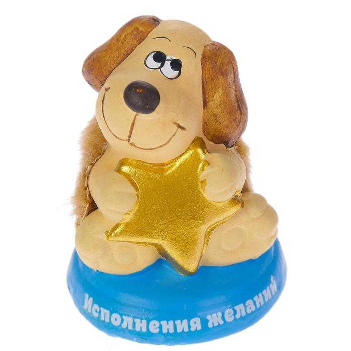 "Керамика фигурка ""Пёс со звездой"" 6,5х4х7 см"
