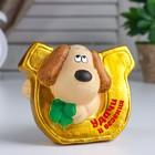 "Piggy Bank ceramic ""Dog with a horseshoe of luck"" 9х11,5х13 cm"