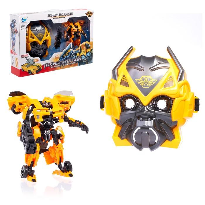 Игровой набор с оружием и маской «Автобот», трансформируется, световые и звуковые эффекты - фото 105502450