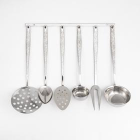 Набор кухонных принадлежностей «Уралочка», 6 предметов, упрощённая обработка, на подвесе