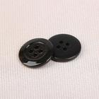 Пуговица, на 4 прокола, 18мм, цвет чёрный