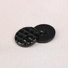Пуговица, на 2 прокола, 18мм, цвет чёрный
