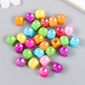 "Set of beads for creativity plastic ""Cube"" pearl set 30 PCs 1x1 cm"