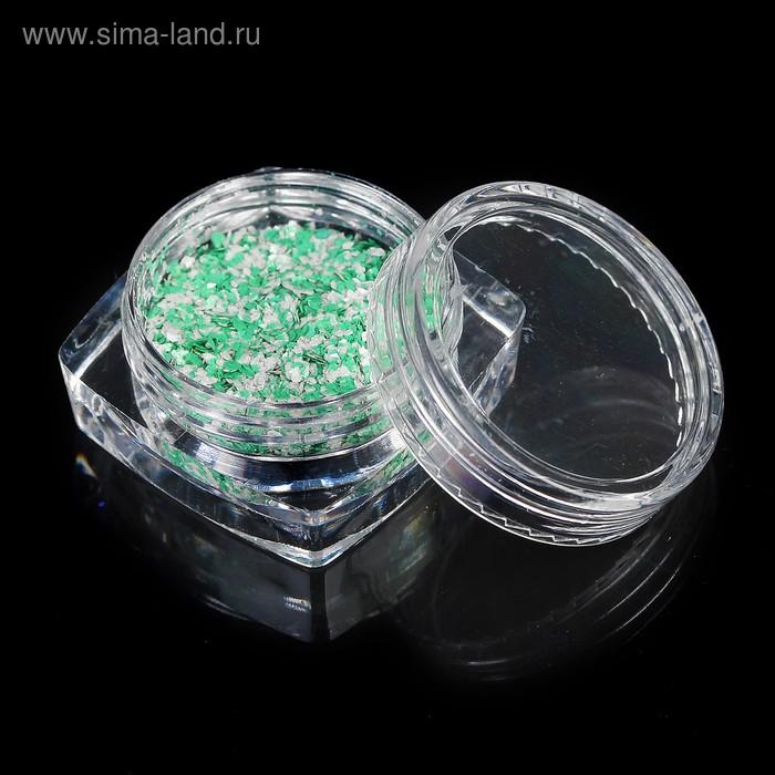"""Декор для ногтей """"Перламутровые хлопья"""", 1гр, цвет зелёный"""