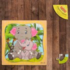 """Puzzle in frame """"baby Elephant and mother"""""""