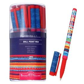 Ручка шариковая FunWrite «Модный свитер», узел 0.5 мм, синие чернила, матовый корпус Silk Touch