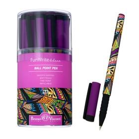 Ручка шариковая FunWrite «Тропики», узел 0.5 мм, синие чернила, матовый корпус Silk Touch