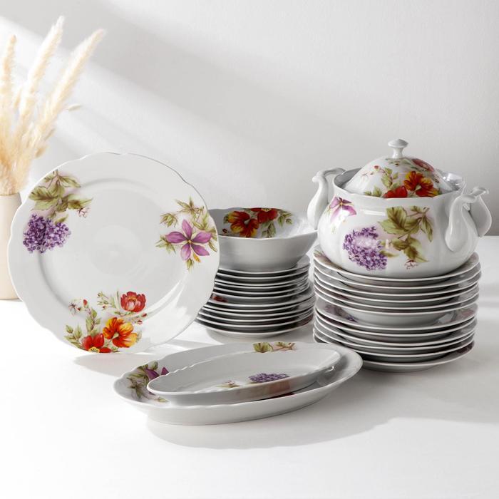 """Сервиз столовый """"Аппетитный. Альпийские цветы"""", 29 предметов"""