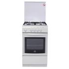 Плита De Luxe 5040.44 Г (КР)ЧР, газовая, 4 конфорки, 43 л, газовая духовка, белая