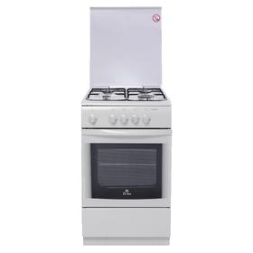 Плита газовая De Luxe 506040.05 Г (КР), 4 конфорки, 54 л, газовая духовка, белый