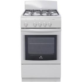 Плита газовая De Luxe 506040.05 Г (Щ), 4 конфорки, 54 л, газовая духовка, белый