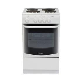 Плита электрическая De Luxe 5004.13э(кр), 4 конф., 43 л, эмаль, без гриля, белая